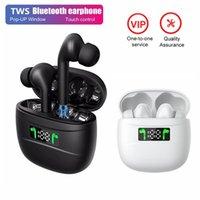 TWS Bluetooth 5.2 Наушники беспроводные наушники басных стерео наушников светодиодный дисплей зарядная коробка HD спортивный водонепроницаемый