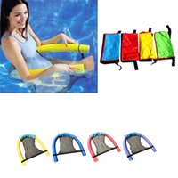 Pool & Accessories Swimming Chair Bed Float Lounger Inflatable Floating Water Hammock Mat Air Mattress Net Set Accessorie