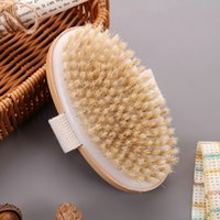 Bathing Brush Dry Skin Body Soft Natural Bristle SPA Without Handle Wooden Bath Shower SPA Exfoliating Body Brushes