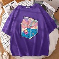 Women's T-Shirt Milk Box Kenma Kozume Stickerprint Clothes Oversized Brand Womens T-Shirts Summer Vintage Tshirts Fashion Cotton Tshirt Unis