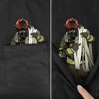 Men's T-Shirts CLOOCL T Shirts Summer Pocket Layer Firefighter Madea Printed T-shirt Men For Women Tops Funny Cotton Black Tee