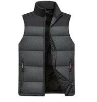 Men's Vests Mens Jackets Sleeveless Vest Winter Warm Down Homme Casual Thicken Waistcoat Chalecos Para Hombre 4XL