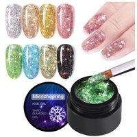 Nail Gel TXD Mirror Powder Metallic Multi Shape Sequin Glitter Bright Painting Soak Off UV Semi Permanent