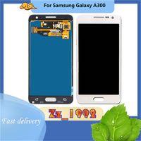 """Panele dotykowe telefonu komórkowego 4.5 """"Super amoled dla Samsung Galaxy A3 A300 LCD Wyświetlacz Digitizer Montaż Wymiana ekranu Błękitne białe złoto"""