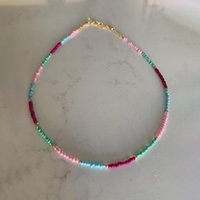 Colar de grânulos coloridos corporais bohemian para mulher charme frisado cadeia acessórios requintados presente de fashion jóias simples, 2021