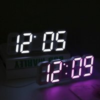 Wall Clocks Digital Alarm Arabic Numeral 3D LED Table Clock With Snooze Function For Home Office Electronic Watch