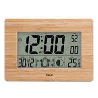Wall Clocks FanJu FJ3530 Digital Clock With Extra Large Display Indoor Temperature Moon Phase Dual Alarm Snooze Calendar Table Desk C