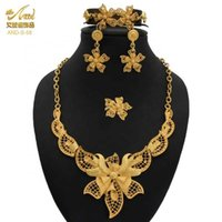 ANIID Wedding Jewlery Sets Flower Jewelery Nigerian Gold For Woman Indian Bangles Ethiopian Jewelry Bridal Necklace And Earrings H1022