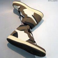 2021 scarpe da basket da donna Jumpman di alta qualità da uomo 1 s Travis Soctt Mocha Sport all'aperto