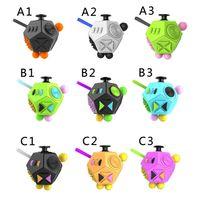 Игрушки 2 Генерация Декомпрессия в рубика кубик кубик против раздражительности снять беспокойство 12 лицо священно кристаллическая игрушка пальца