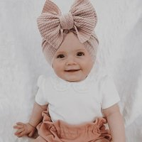 Caps & Hats 2021 Cable Knit Knot Bows Baby Bandanas Turban Headband Babes Donuts Hat Kids Girls Infant Beanie Hair Accessories