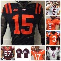 Custom Virginia Tech Hokies Football Jersey NCAA College 22 Chamarri Conner 14 Damon Hazelton 23 Rayshard Ashby 8 Emmanuel Belmar 5 Jarrod Hewitt 96 Norell Pollard