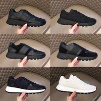 Zapatos de diseñador hombres prax 01 zapatillas de deporte de zapatillas de cuero real planos entrenadores planos de tela de cordones de cordón transpirable zapato de lona suela de goma 276
