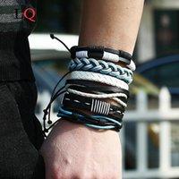 Vintage Tribal Armband Männer Multi-Layer Leder Armbänder Manschette Spitze Webart Seil Armreif Männliche Handgelenkband Ethnische Geschenke Perlen, Stränge