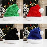 Christmas Santa Claus Hats 7 Colors Short Plush Caps Festival Party Cosplay Costumes Cap Xmas Decoration Accessories GWD11002
