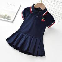 menina designer voodresses, vestido manga bebê 100% algodão princesa crianças crianças crianças meninas roupas