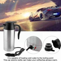Water Bottles Silver Steel Vehicle Heating Cup Heat Insulation Electric Camping Car Travel Home Thermal Mug Supplies Kettle Coffee J1C5