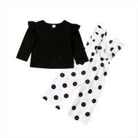 Autumn 2pcs Kids Baby Girl Clothes Long Sleeve T Shirt Tops Polka Dot Pants Outfits Fashion Set Clothing