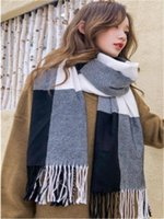 Scarves In The Fall And Winter Of Han Edition Imitation Cashmere Scarf Grid Female Japanese Students Warm GY009