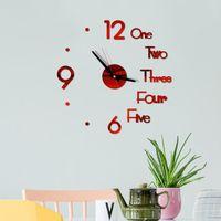 Wall Clock 3D Mirror Creative Acrylic Stickers Living Room Quartz Needle Europe Horloge Home Office Decor Clocks
