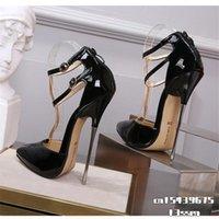 Dress Shoes Crossdresser Zapatos Mujer 16cm Thin Heels Sandals Women Wedding Pumps Bridal Buckle Patent Leather Stiletto Drop