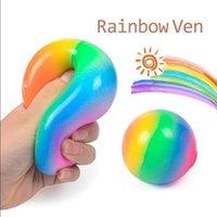 Squish squeeze المطاط الإجهاد القلق الإجهاد الإغاثة التوحد تململ جيلي اسفنجي rainbow تنفيس الكرة squeezy الإجهاد الكرة للطفل بالغ