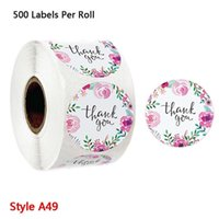500pcs Floral Thank You For Your Business Stickers Baking Package Seal Labels Wedding Party Scrapbooking Stationery Gift Wrap