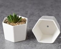 Céramique Bonsai Pots en gros Mini Porcelaine de Porcelaine blanche Fournisseurs Semementions Succursale Planteurs de pépinière Intérieur à domicile Mer Navire Sea FWB9103