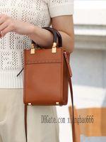 18 cm mini moda marrone giallo donne borse f sac shopping bags ff bag sacchetto solare spalla spalla shopper totes ficon