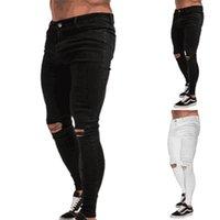 Men's Pants Ripped Biker Men Jeans Skinny Distressed Denim Slim Fit Long Trousers Mens Clothing
