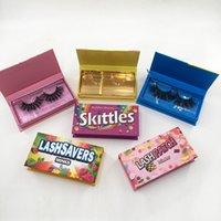 2022 New Arrival Chain Eyelashes Cases Custom Lashbox Packaging Halloween Lash Boxes for Dramatic 25mm 3D Mink Eyelash Empty Eye Lashes Case