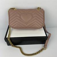 الأزياء الحب القلب موجة نمط حقيبة الكتف حقيبة مصمم سلسلة حقائب crossbody محفظة سيدة الجلود الكلاسيكية نمط حمل حقائب فاخرة مع أكياس هدية H06G