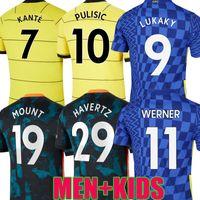 21 22 CFC Lukaku 9 Werner Havertz Chelsea Futebol Jerseys Abraham Chilwell Ziyech Futebol Camisa Pulisic Jorginho Camiseta 2021 Kante Men Kit Finais de Superco