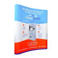 5ft w136xh223cm изогнутые PVC всплывающее подставка подставка рекламный дисплей с пользовательской печатью логотипа