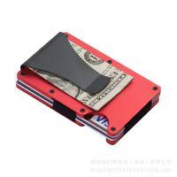 Engraving Name Card Holder RFID Blocking Metal Men Wallet Purse Male Business Credit Cardholder Carteira Masculina Billetera ZD-03