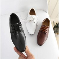 Sneakers Soft Comfortable Kids Leather Shoes British Style Flat Heel Student Formal Stage Performance Child Glossy