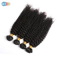 "Wigs By Brazilian Kinky Krullend Bundels With Edge Frontal Closure Free Part 13 ""X 4"" Swiss Remy Human her Bundles"