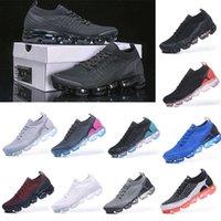 Fly 2 .0 Knit 3 Sneakers Erkek Koşu Ayakkabıları Üçlü Siyah Beyaz Volt Cinder MOC Tozlu Kaktüs Bayan Eğitmenleri Buharlar Yastık Sporları
