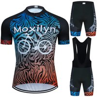 moxilyn white bicycle pattern cycling jersey set summer short sleeve and shorts suithigh quality material bike clothing