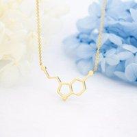 Minimalista geométrico hexágono hexágono hexágono colar de aço inoxidável constelação pingentes para mulheres homens jóias pingentes colares
