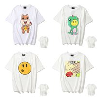 T-Shirt der Frauen Justin Bieber Smiley Gesicht Druck Cartoon Kleiner Dinosaurier Lässige Männer und Frauen Paar Lose Rundhals Kurzarm 0101