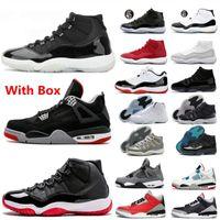 Com caixa 25 anos de aniversário 11 homens sapatos de basquete jubileu vasto legal cinza prata metálica branca platina tonalidade georgetown senhora de veludo mulheres 11s atletismo sneakers