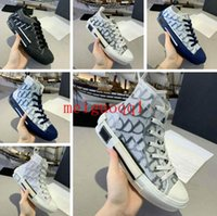 2021 Casual Schuhe Hohe Qualität 23 Diagonale High-Low-Top-Technologie Turnschuhe Damenmode Doppeldesigner Shoe's Herren Outdoor Leder-Plattformschuhe # 35-47