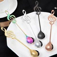 Spoons 1pc Color Note Coffee Stirring Spoon Milk Tea Dessert Steel Grade Bar Tableware Creative Restaurant E0F8
