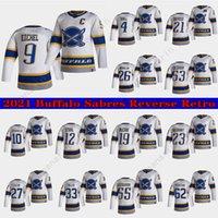 Buffalo Sabers Jersey 2021 Обратная ретро 4 Тейлор Холл 9 Джек Eichel 53 Джефф Скиннер 55 Расмус Ристолайнен Хоккейские изделия