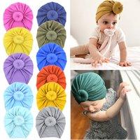 Baby Top Knot Rose Chapéu Criança Turbante Macio Estilo Vintage Acessórios De Cabelo Retro Meninas Meninos Cabeça Cabeça Decorativo