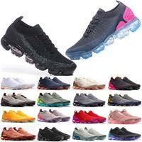 2021 MOC 2 Laceless Reaktif 2.0 Erkek Rahat Ayakkabılar Üçlü Siyah Tasarımcı Des Chaussures Kadın Sneakers Fly Beyaz Örgü Yastık Trainers BT