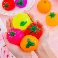 Antistress Reliever Toys Squishy Fidjet Toys Antistress Ball Fruit Kawil Squeeze Toys Games For Children Adult WHT0228