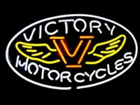 victory motor cycles Sign DIY Glass LED Neon Sign Flex Rope Light Indoor Outdoor Decoration RGB Voltage 110V-240V 17*14 inches