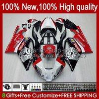 Moto carénages pour Aprilia RSV1000R Mille RV60 RSV-1000 RSV1000 R RR 04 05 06 Bodywork 11no.0 RSV1000RR RSV 1000 R 1000R 1000RR 2004 2006 Kit de carrossage Factory rouge